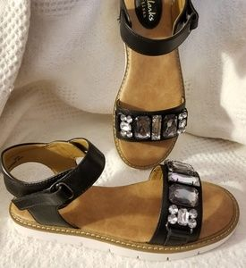 e5b6fa150196d Clarks Shoes - Clarks Artisan Lydie Joelle black sandals jewelled